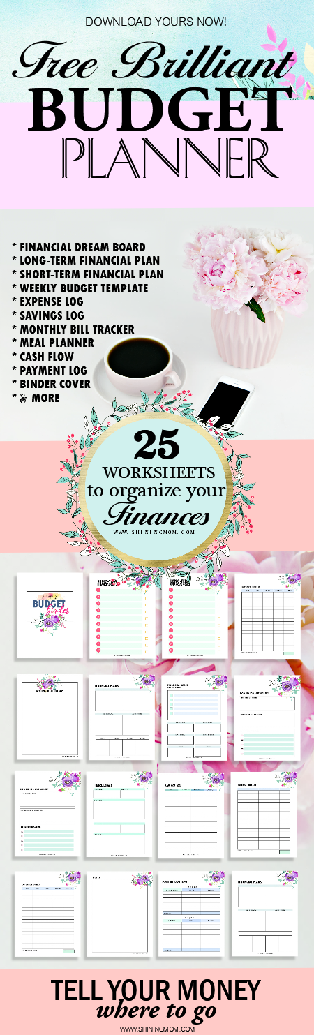 budget planner template printable