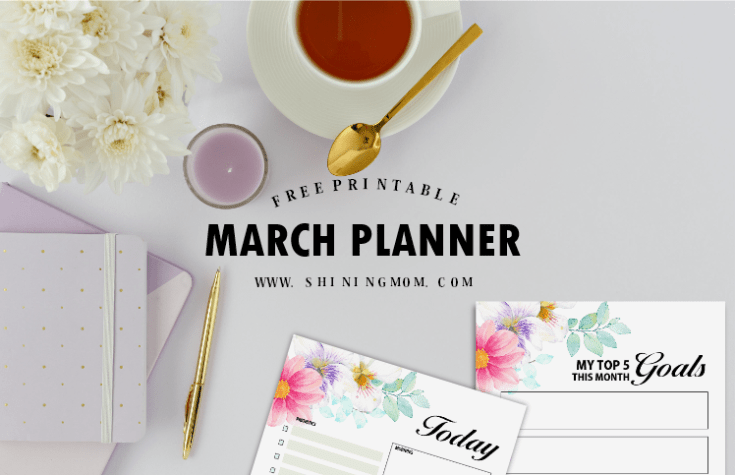 Get Your Free March Planner, It's Sweet and Whimsical!