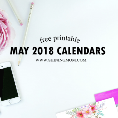 Free Printable May 2018 Calendar: 12 Designs!