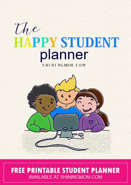 free printable student planner