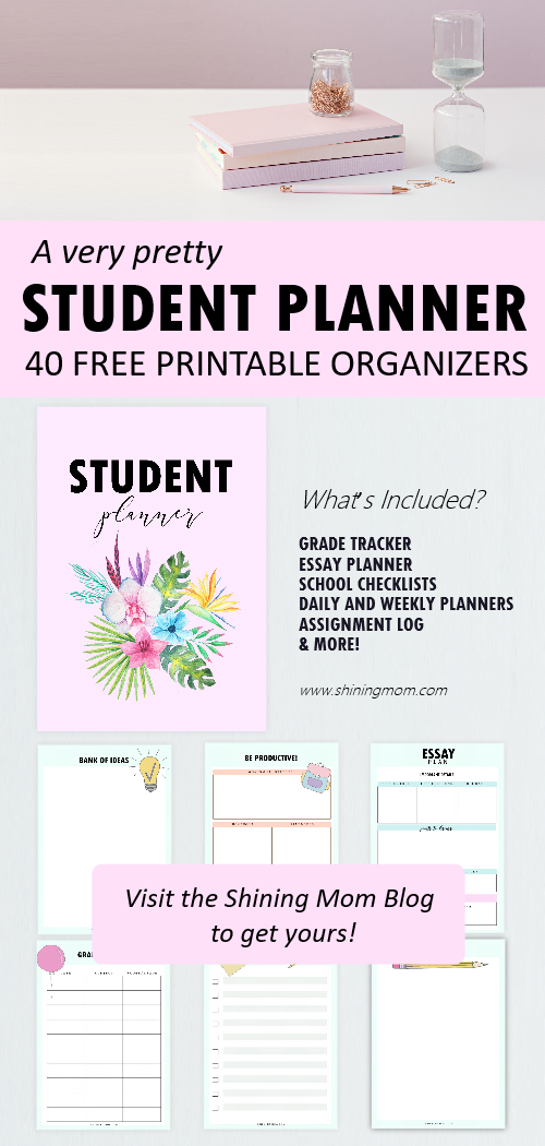 student planner printable free
