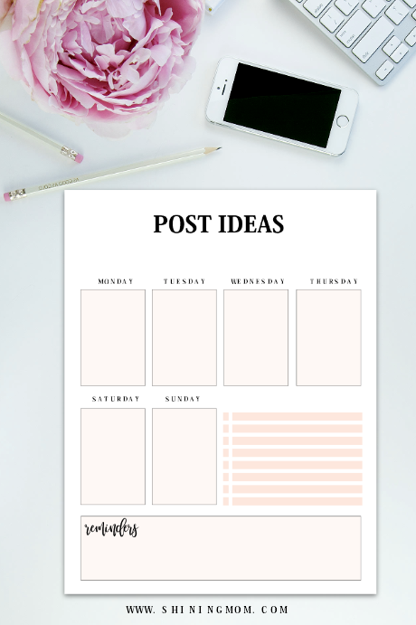 free blog post ideas planner