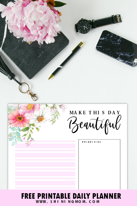 beautiful daily planner