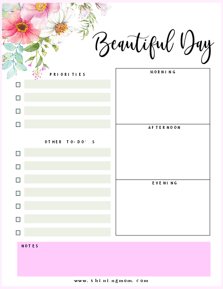 photograph about Daily Planner Template known as Totally free Printable Day by day Planner: Eye-catching Internet pages!