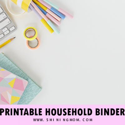 Free Printable Home Binder for Moms!