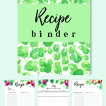 recipe binder printables