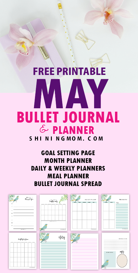 May bullet journal printables