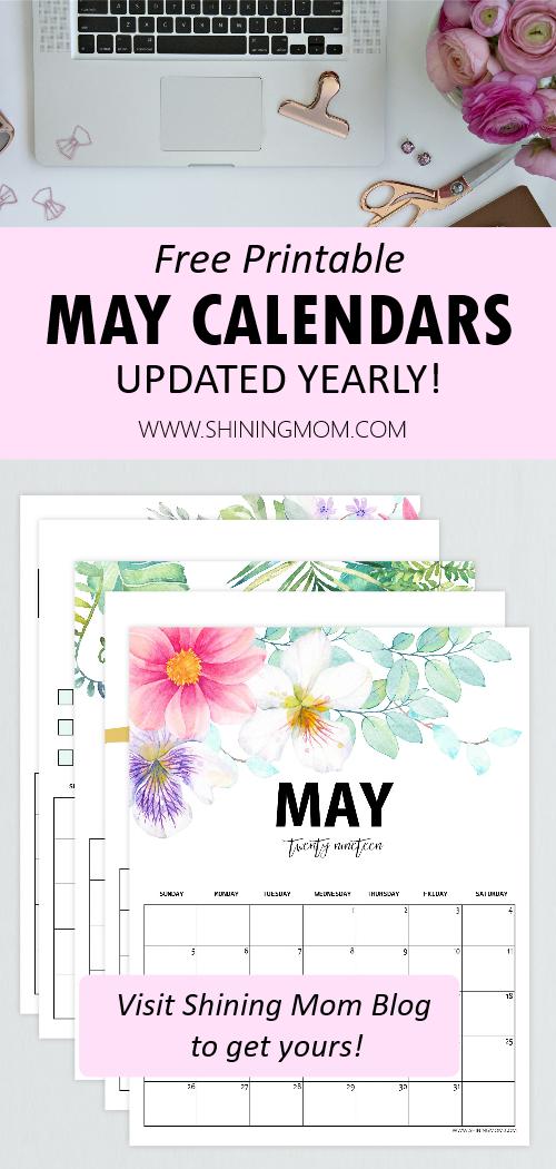 May calendar free printables