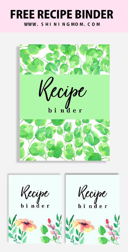 recipe binder divider