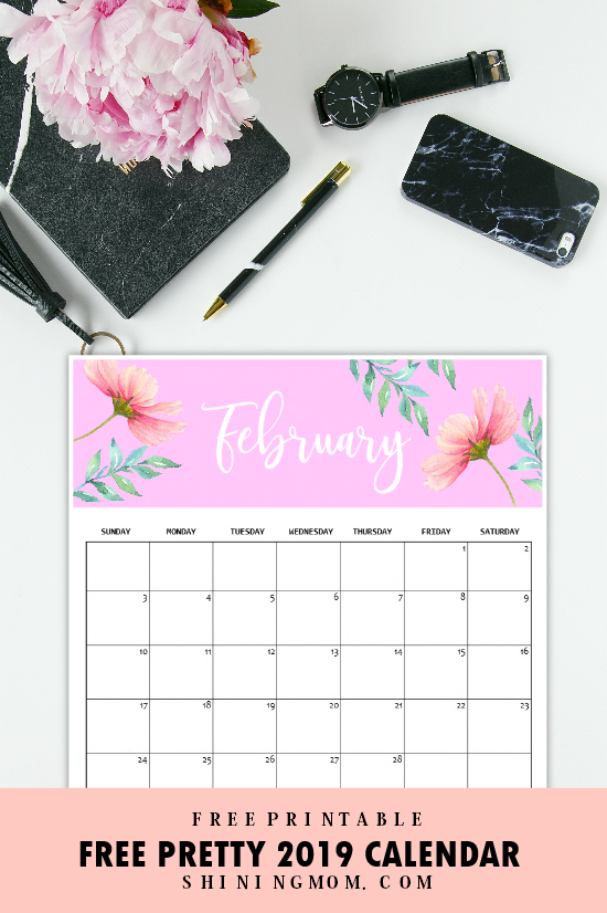 Calendar 2019 Printable Free 12 Monthly Calendars To Love