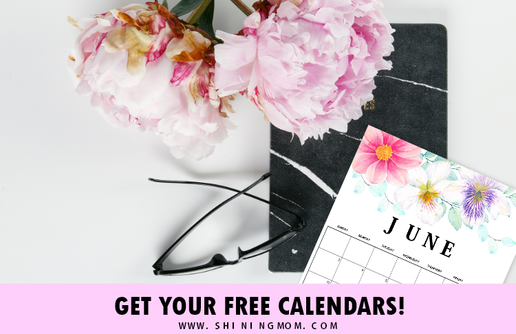 FREE June Calendars: 6 Pretty Designs for Your Blissful Planning!