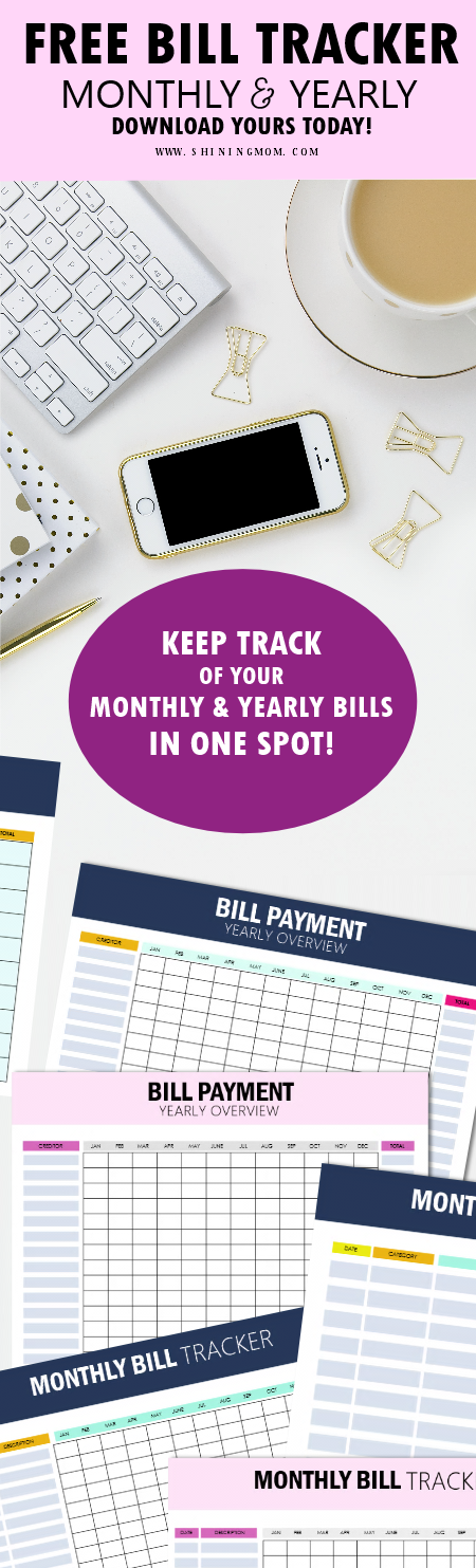 bill payment printables