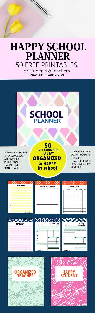 school planner for students and teachers