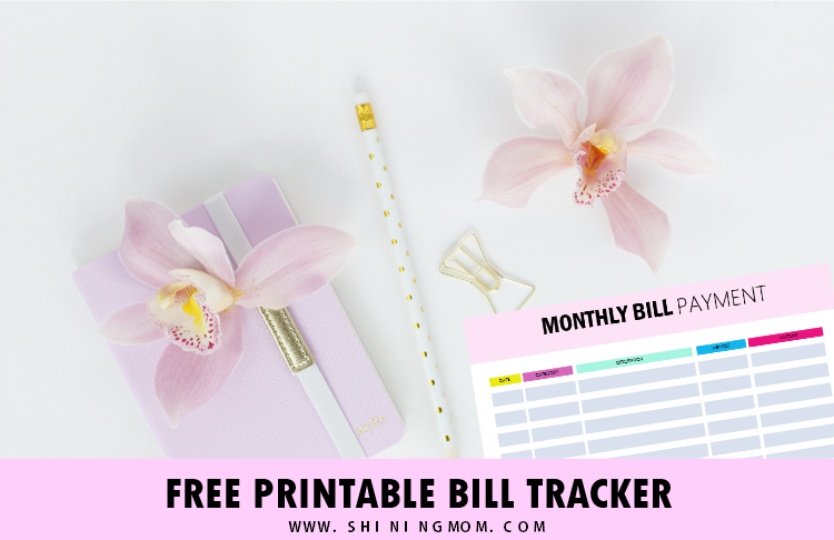 FREE Bill Tracker Printables: Be on Top of Your Monthly Payment!