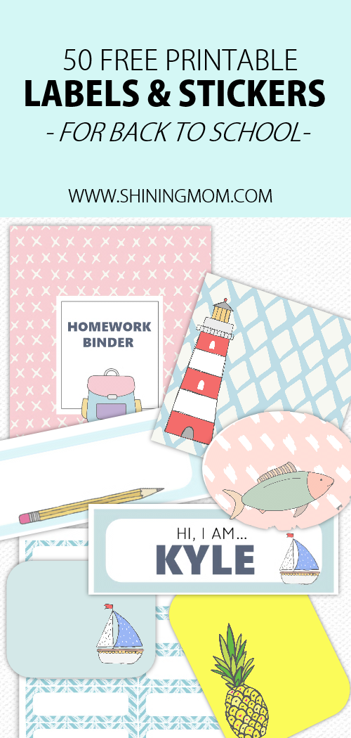 image about Printable Binder Labels identified as Totally free Printable University Labels: 50 Tremendous Lovely Ideas!