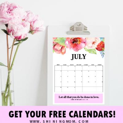 FREE Beautiful July Calendars: Organize Your Schedule!