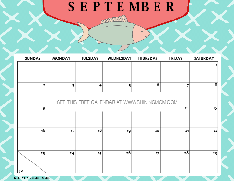 12 FREE Printable September 2019 Calendar and Planners ...