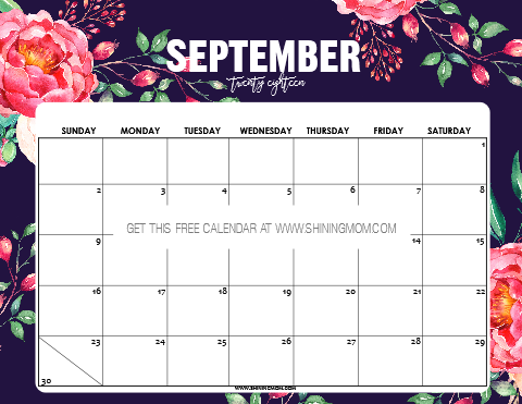 12 FREE Printable September 2018 Calendar and Planners!