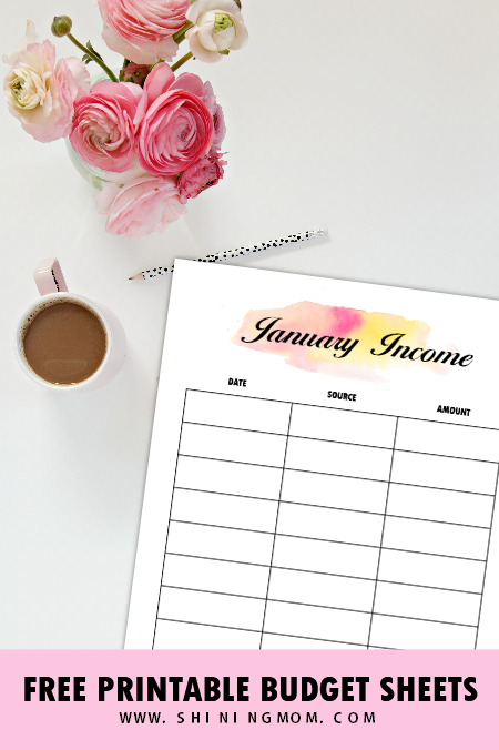 monthly income tracker