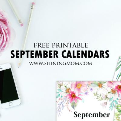 FREE Printable September 2018 Calendar: 12 Awesome Designs!