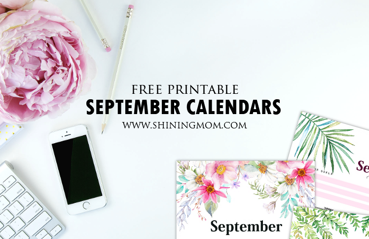 FREE Printable September 2018 Calendar: 12 Awesome Designs!