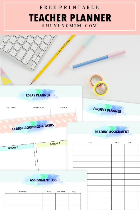image regarding Printable Teacher Planner titled Free of charge Printable Instructor Planner: 45+ University Scheduling Templates!