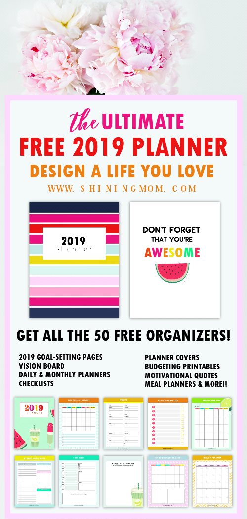 graphic relating to Mom Planner Printable known as Totally free Planner 2019: Structure a Daily life Yourself Take pleasure in!