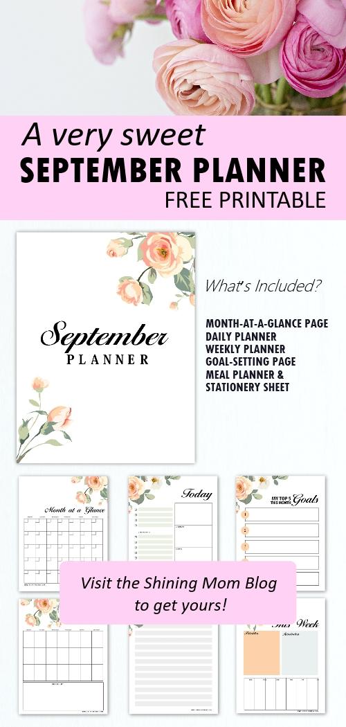 September planner printable