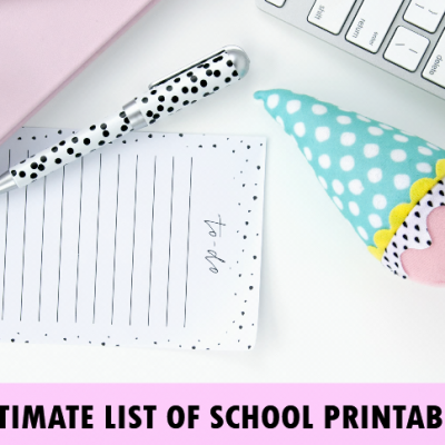 50 Amazing Back-to-School Printables!