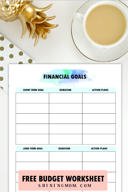 financial goals planner