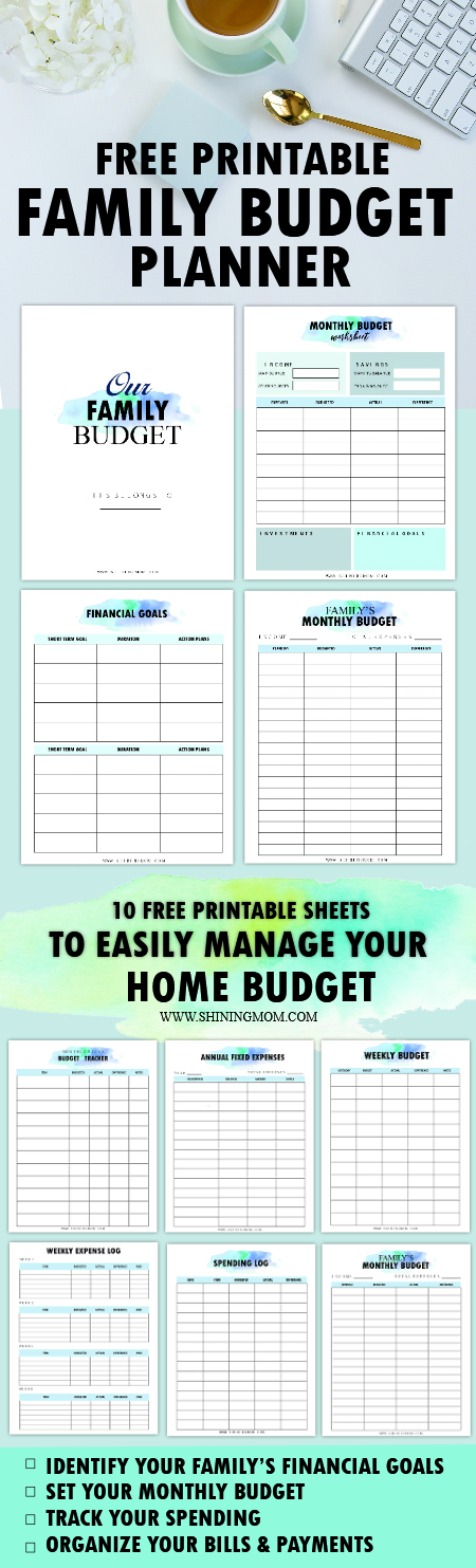 family budget binder printables