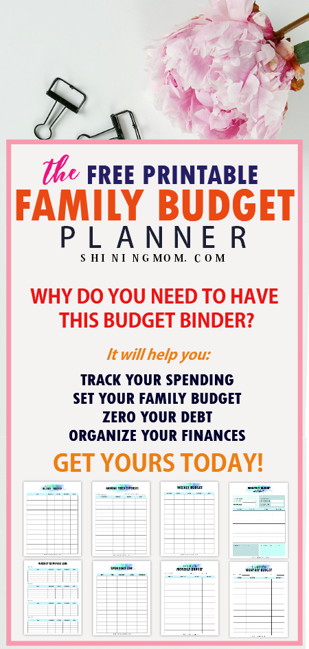 family budget planner printable