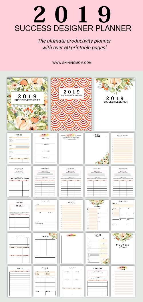 The 2019 Success Designer: The Ultimate Productivity Planner!