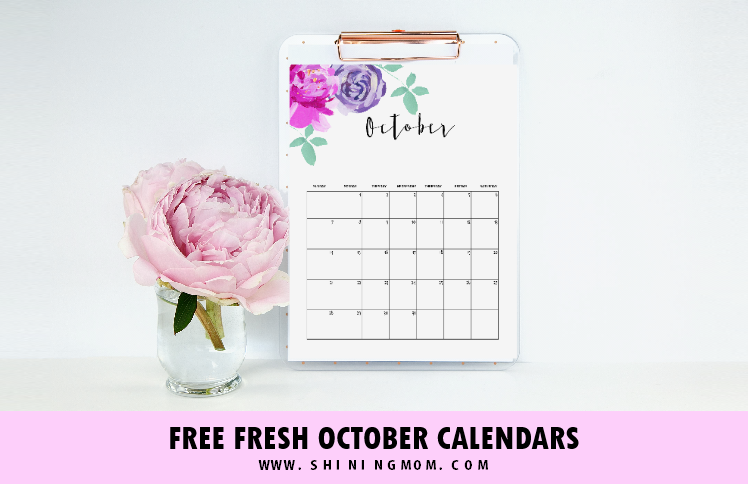 FREE October 2018 Calendar: 12 Awesome Designs!