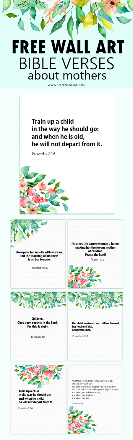 wall art for mothers with bible scripture