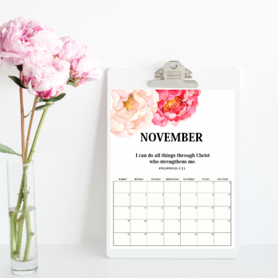 Free Printable November 2018 Calendar: 12 Awesome Designs!