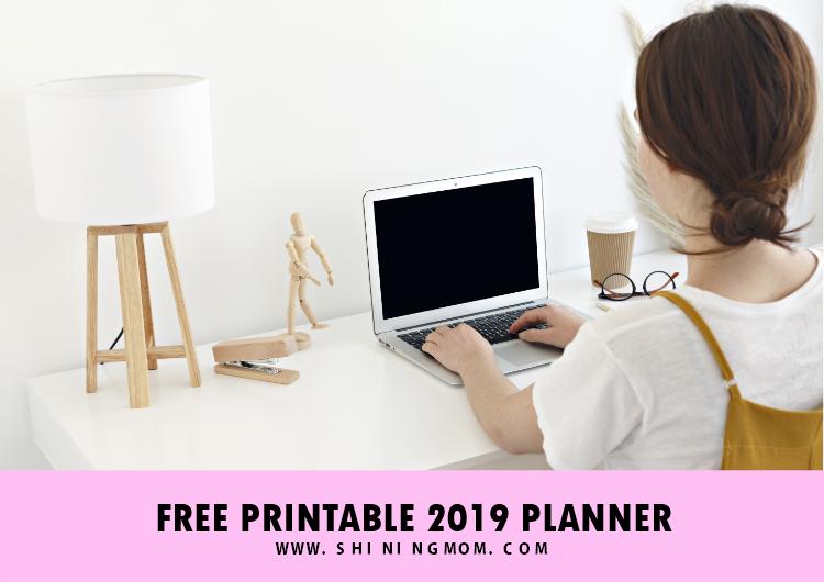 2019 calendar planner free printables