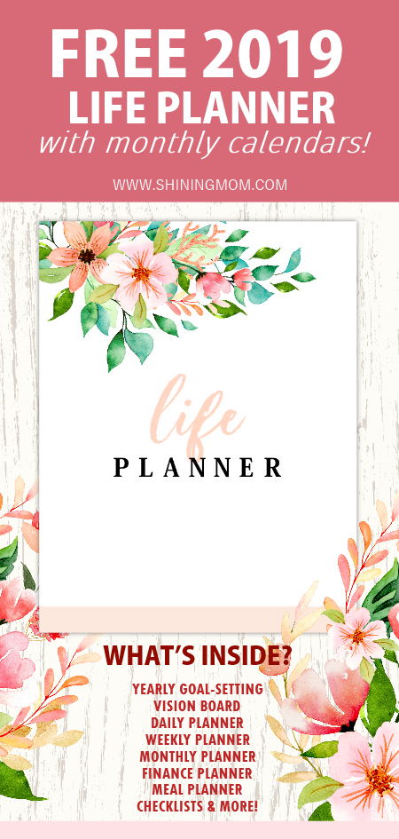 free printable 2019 monthly calendar and planner