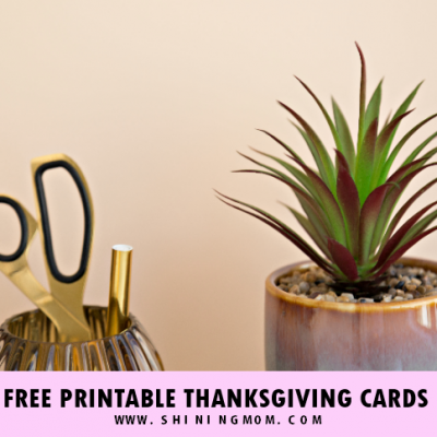 Free Printable Thanksgiving Cards: 10 Beautiful Designs!