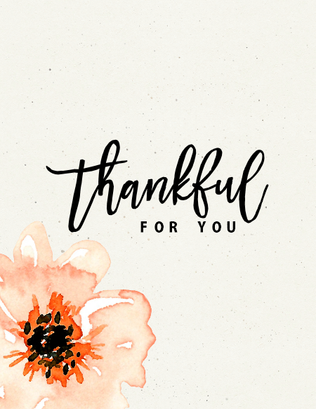 thankful for you free printable