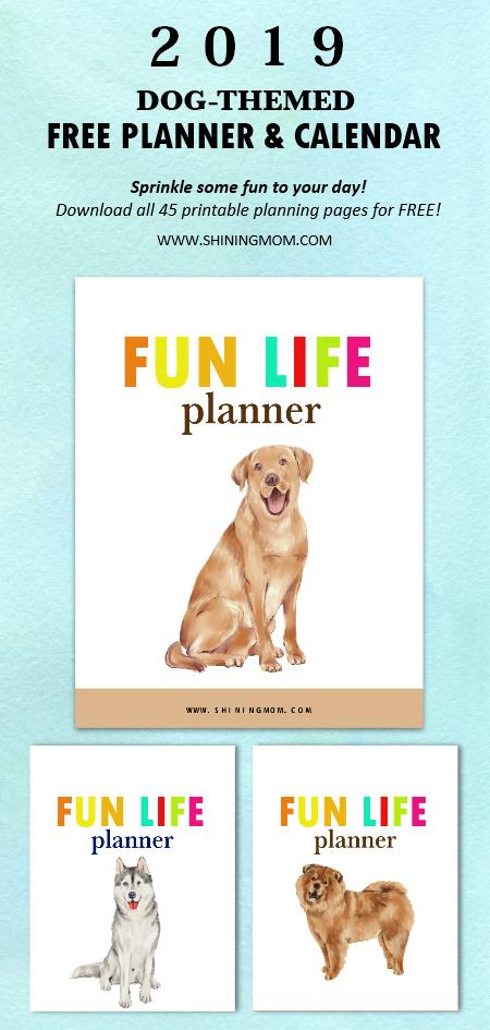 2019 life planner calendar printable