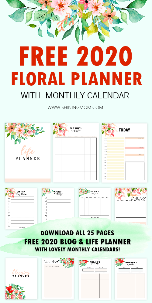 It is a graphic of Printable Monthly Planner inside large