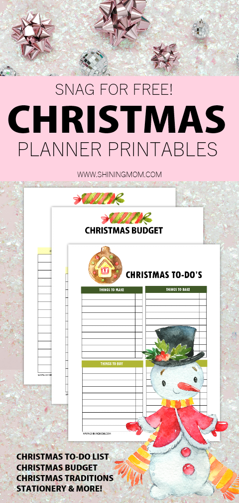 picture regarding Free Christmas Planner Printables referred to as 20 Cost-free Xmas Record and Xmas Planner Printables!