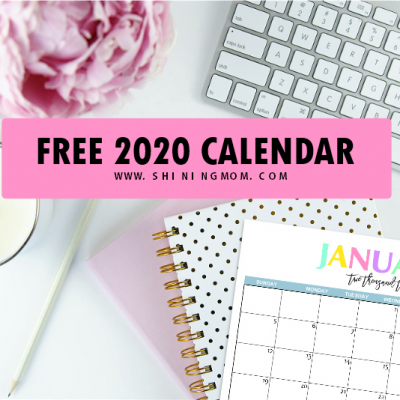 Free Printable 2020 Calendar: So Beautiful & Colorful!