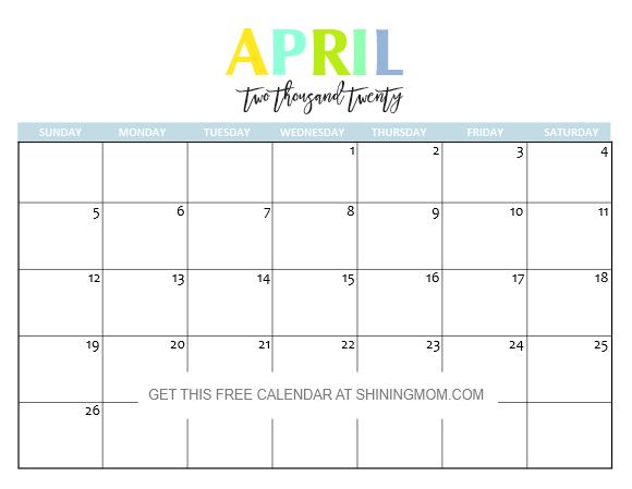 Blank Calendar August 2020.Free Printable 2020 Calendar So Beautiful Colorful