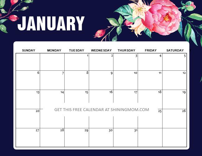 January 2019 Calendar Design Free Printable January 2019 Calendar: 12 Awesome Designs!
