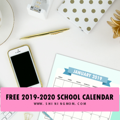 Free School Calendar 2019 – 2020 with Weekly Student Planner!