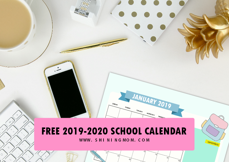 photograph relating to School Calendar -16 Printable named No cost Higher education Calendar 2019 in direction of 2020 with Weekly University student Planner!