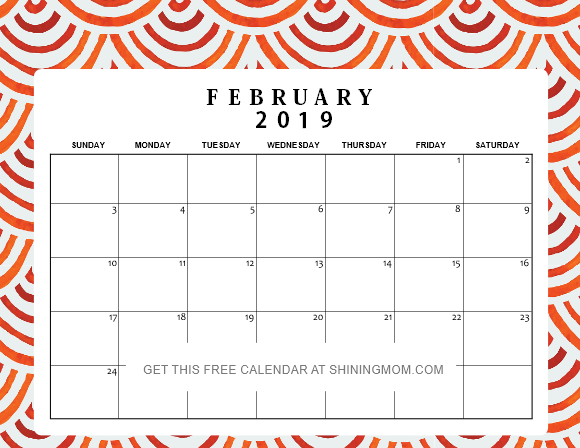 12 Free Printable February 2019 Calendar And Planners Awesome Designs