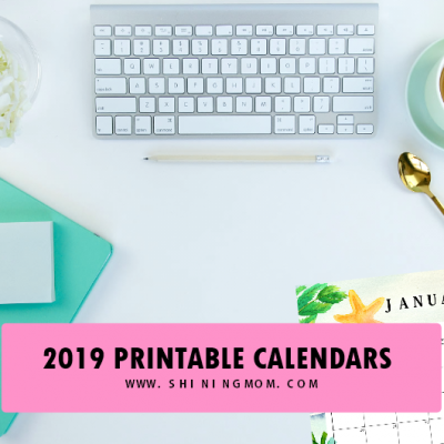Lovely 2019 Printable Calendar + Weekly Planner Freebie